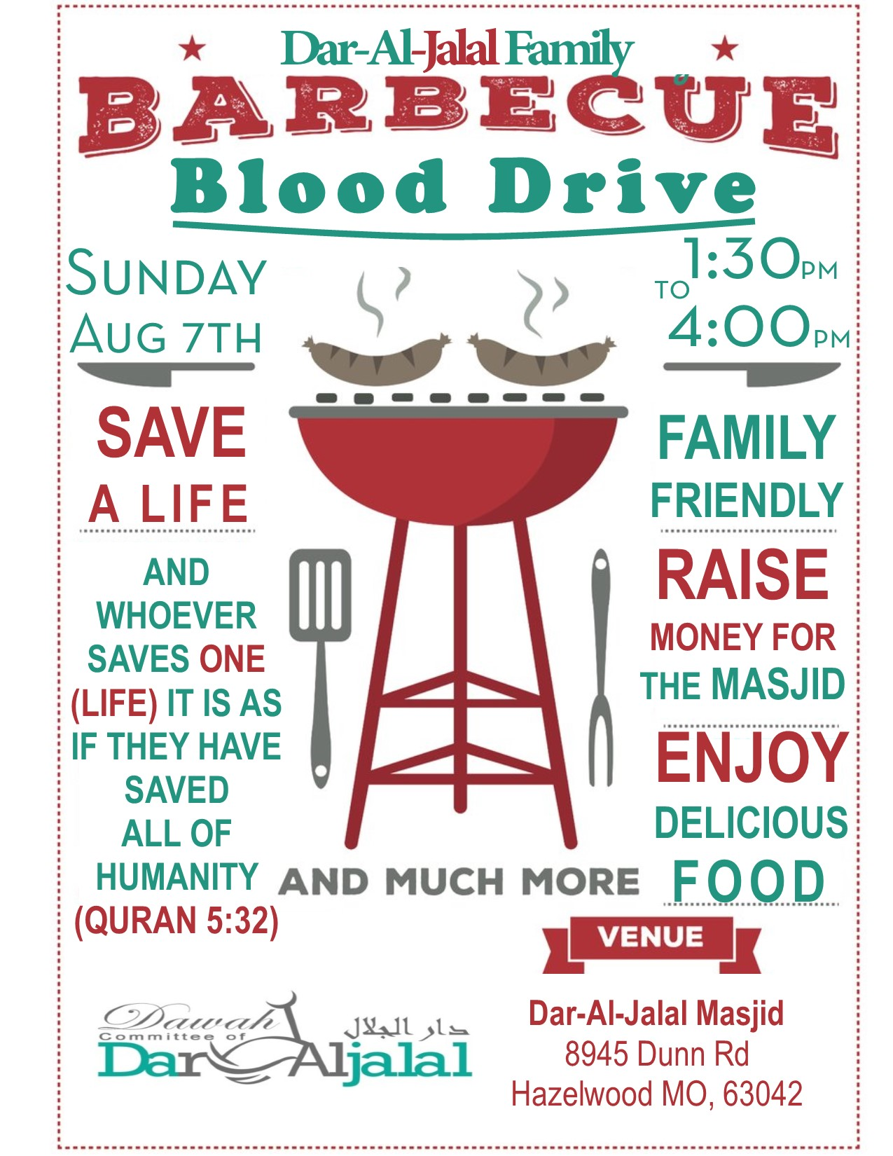 BBQ Blood Drive Flyer