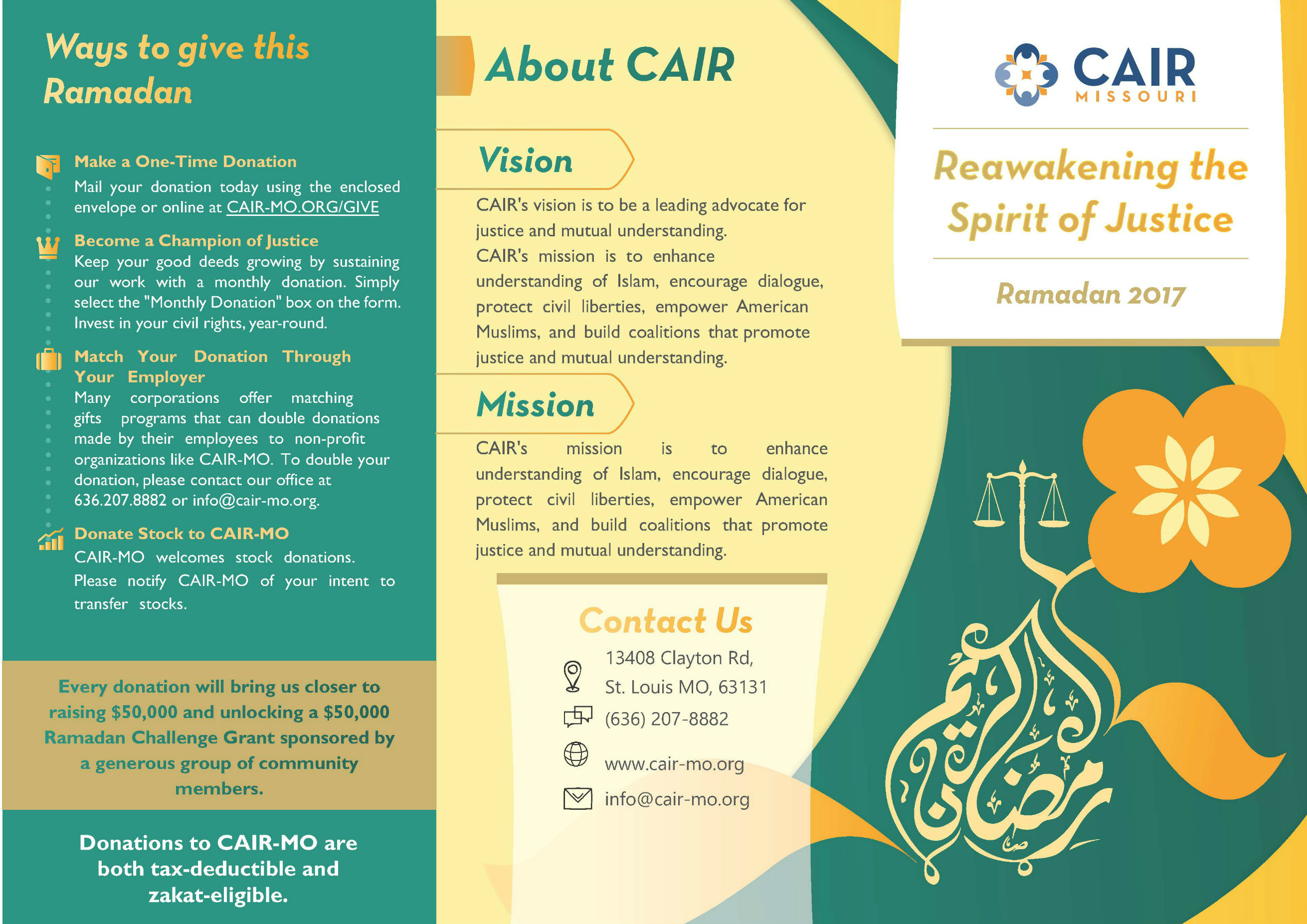 CAIR MO Brochure Front
