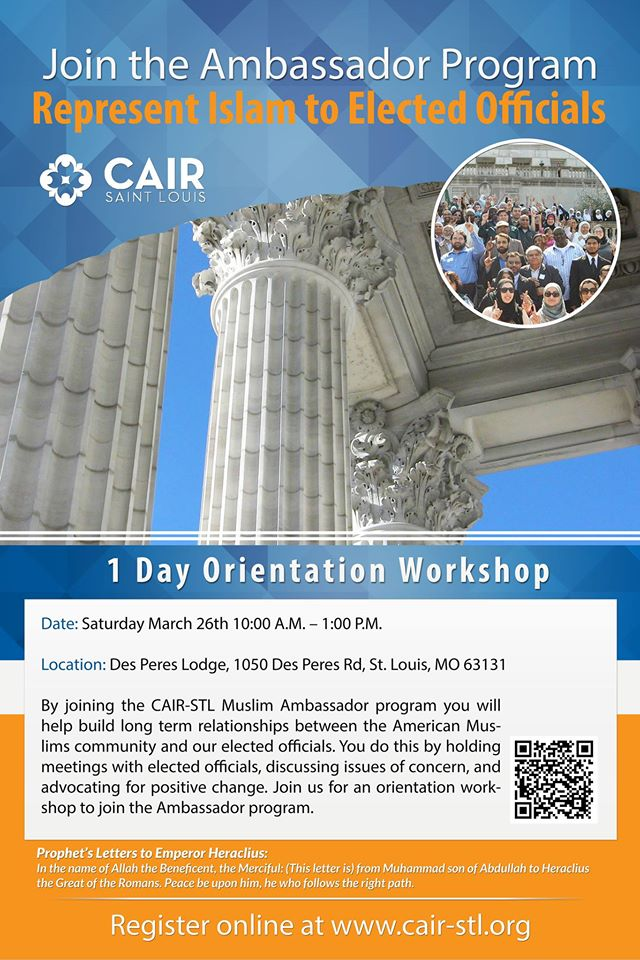 CAIR STL Ambassador Program Political Engagement