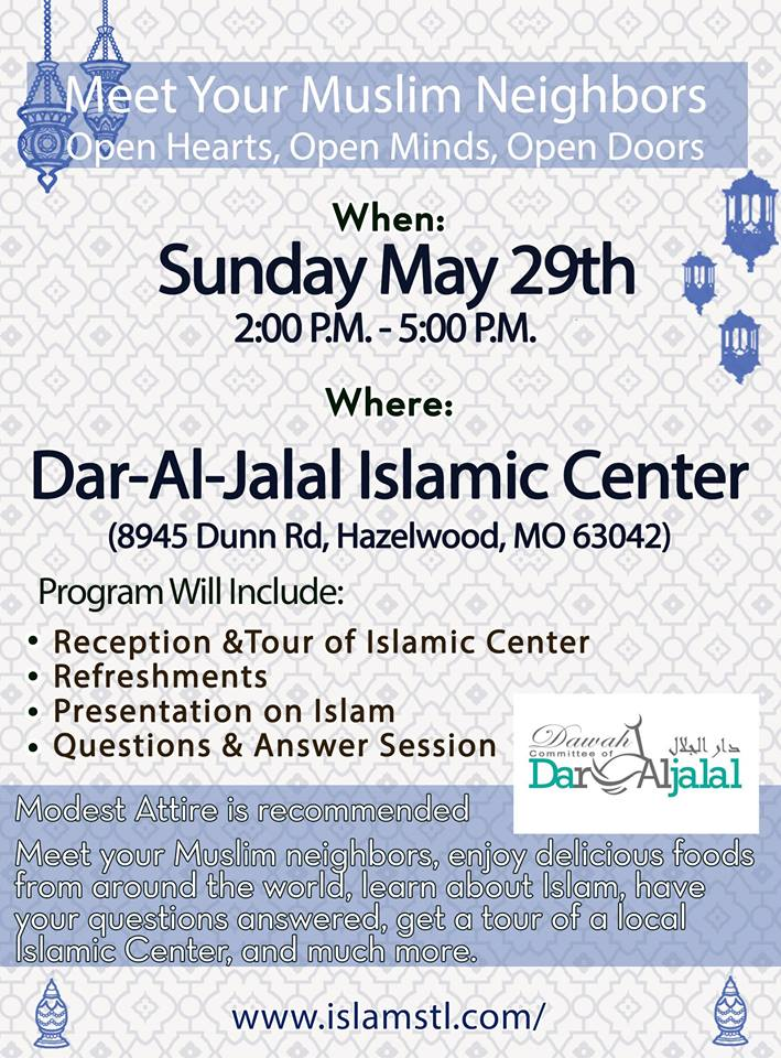 Dar Al Jalal Islamic Center Open House Flyer