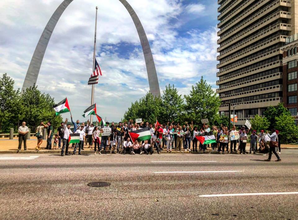 Free Gaza March Downtown St. Louis