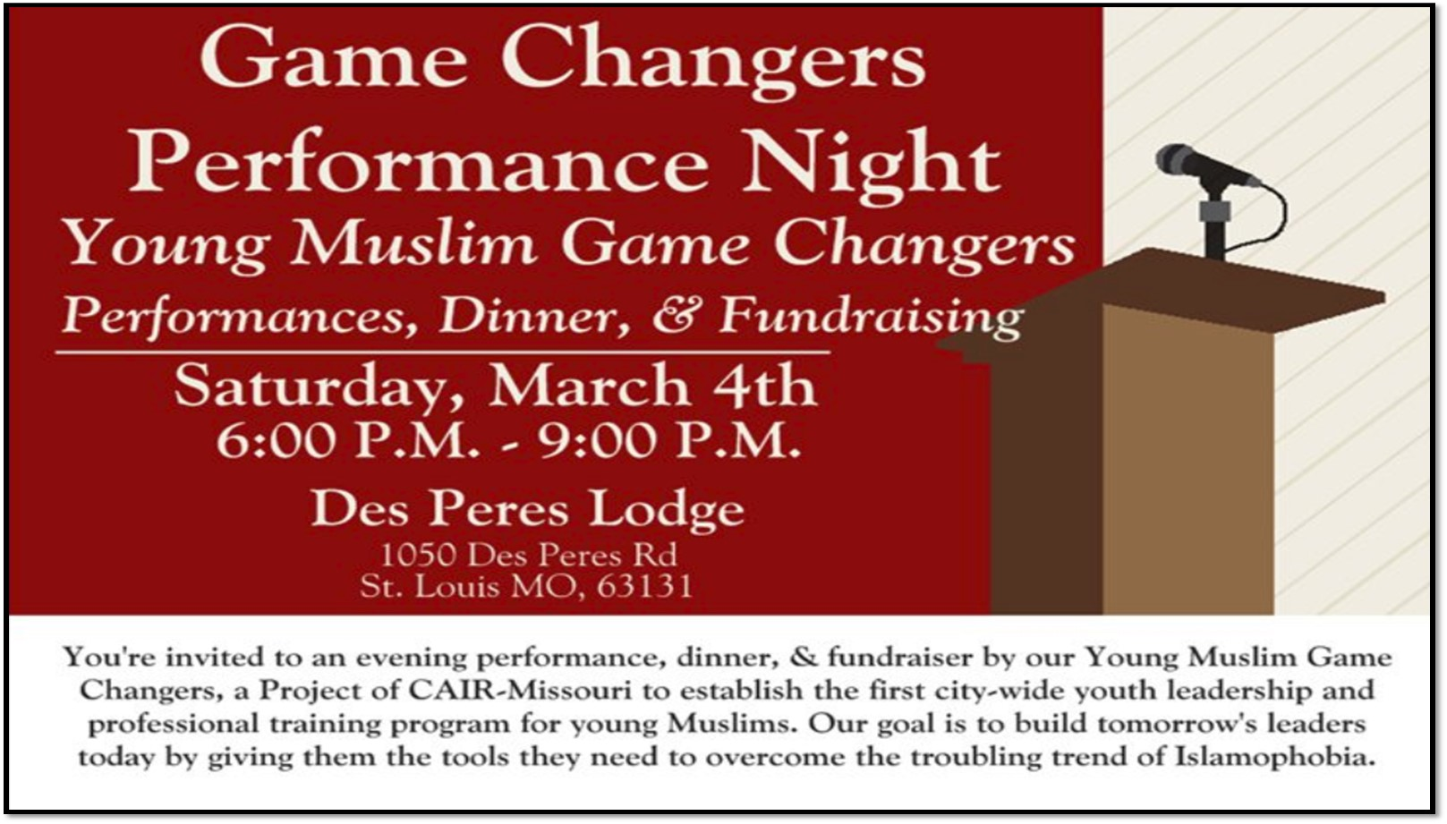 Game Changers Night Photo
