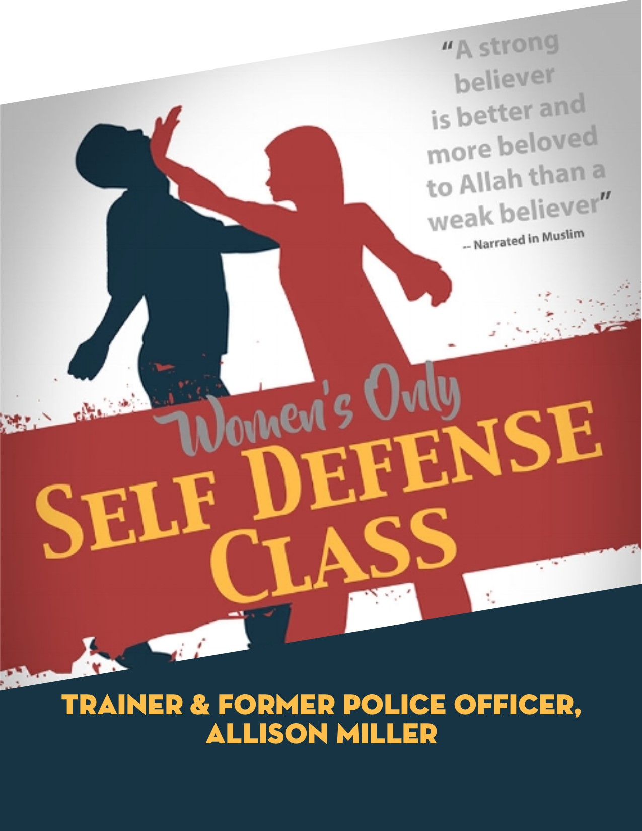 Generic Muslim Women Self Defense Flyer
