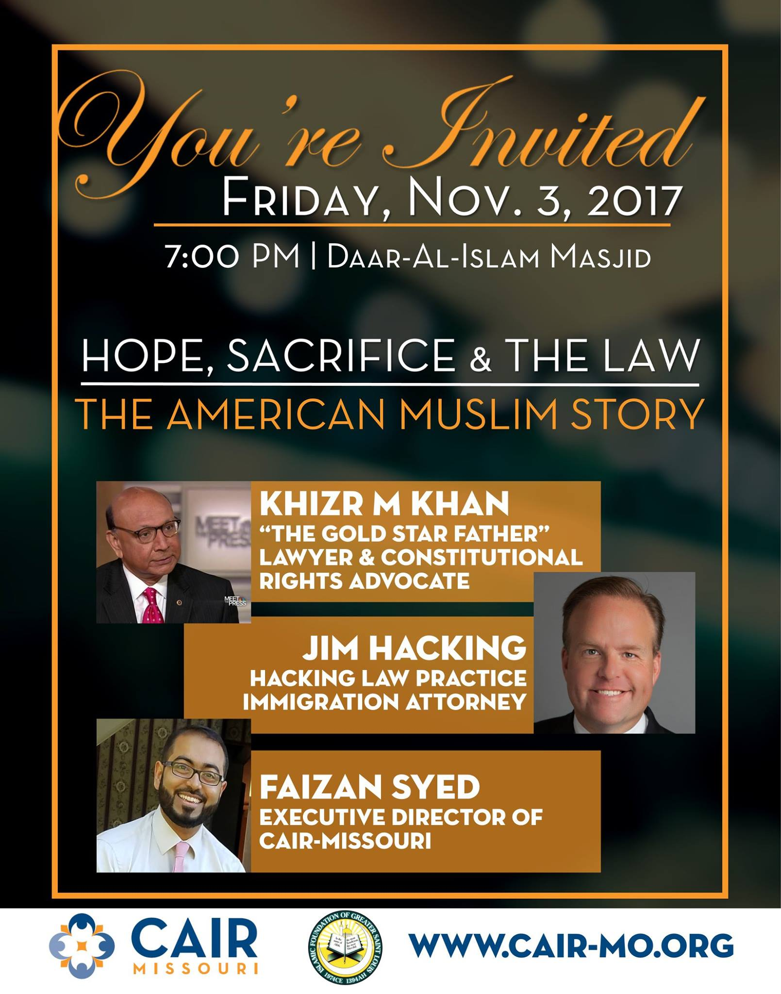 Khizr Khan Jim Hacking Faizan Syed CAIR Missouri