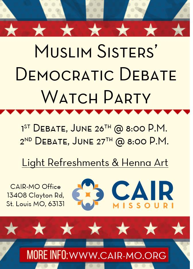 Muslim Sisters Democratic Debate Watch Party