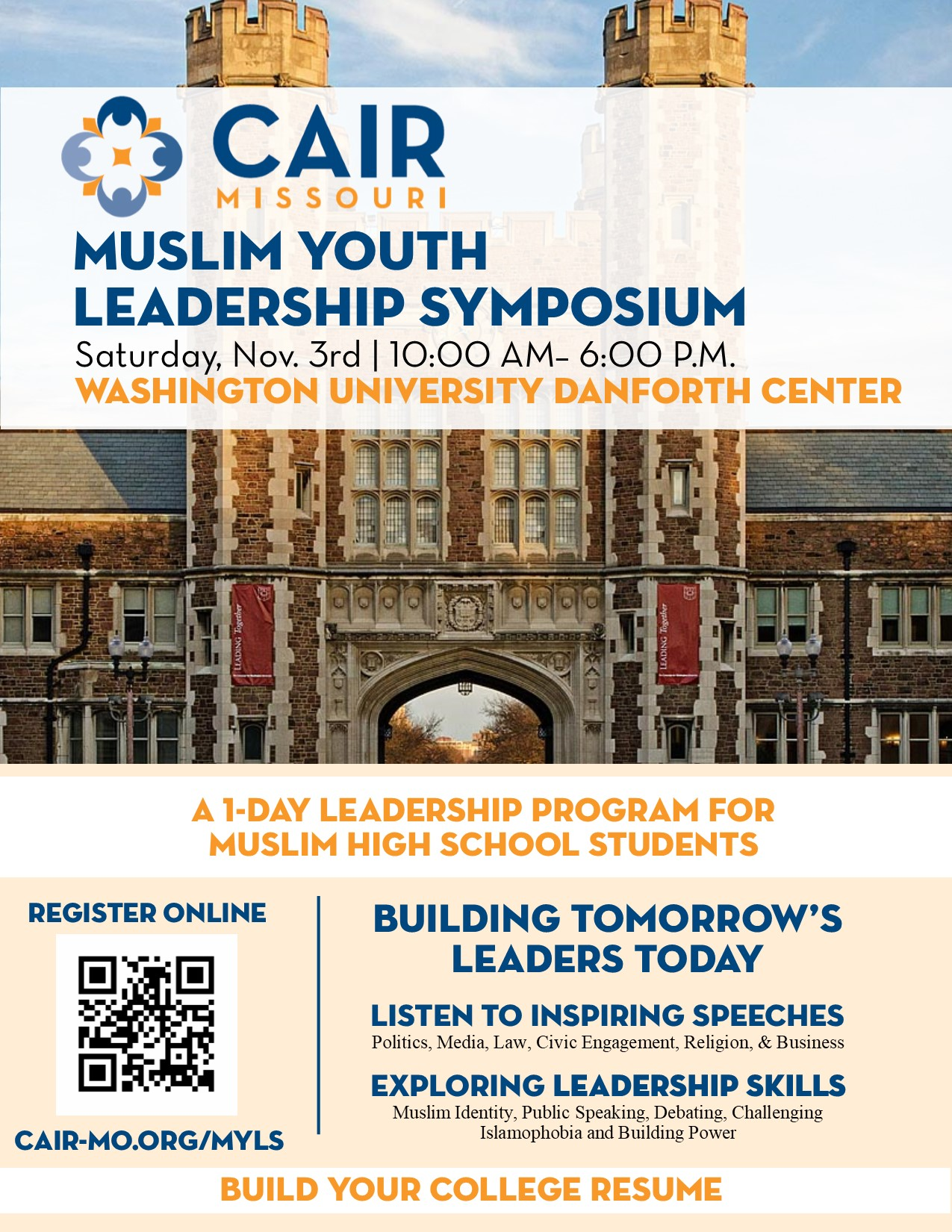 Muslim Youth Leadership Symposium CAIR Missouri Washington University