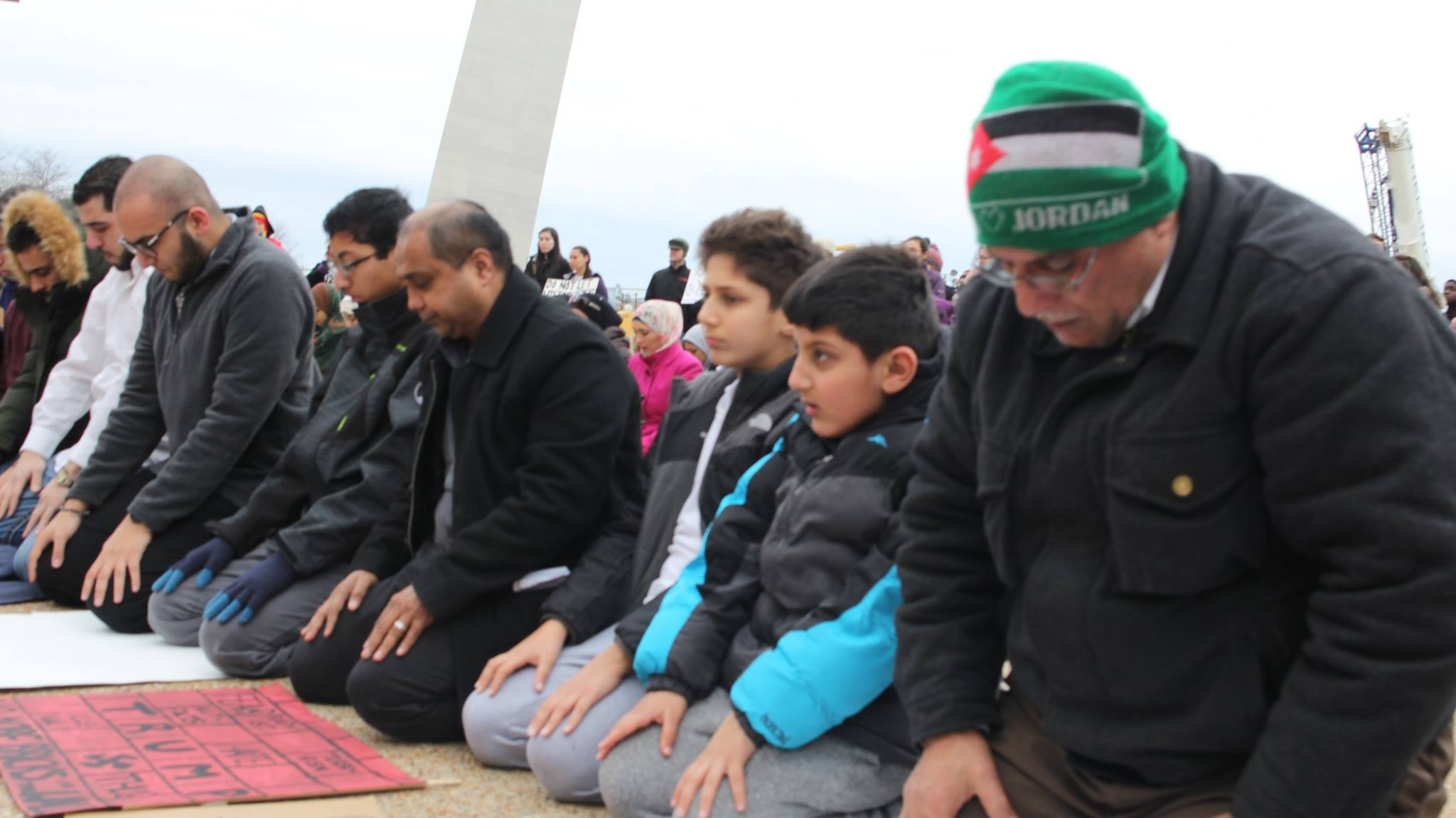 Muslims Praying at St. Louis Arch During Muslim Ban Protest CAIR Missouri