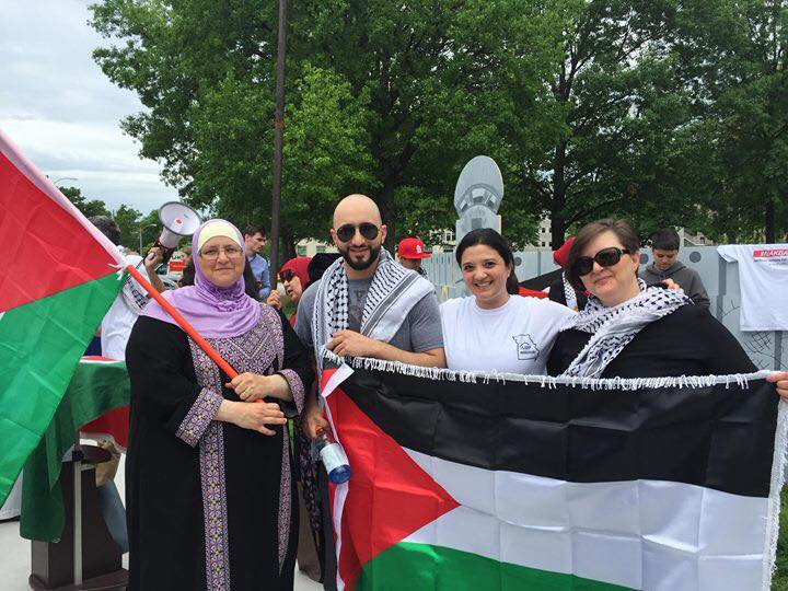 Nakba in St. Louis Free Palestine March