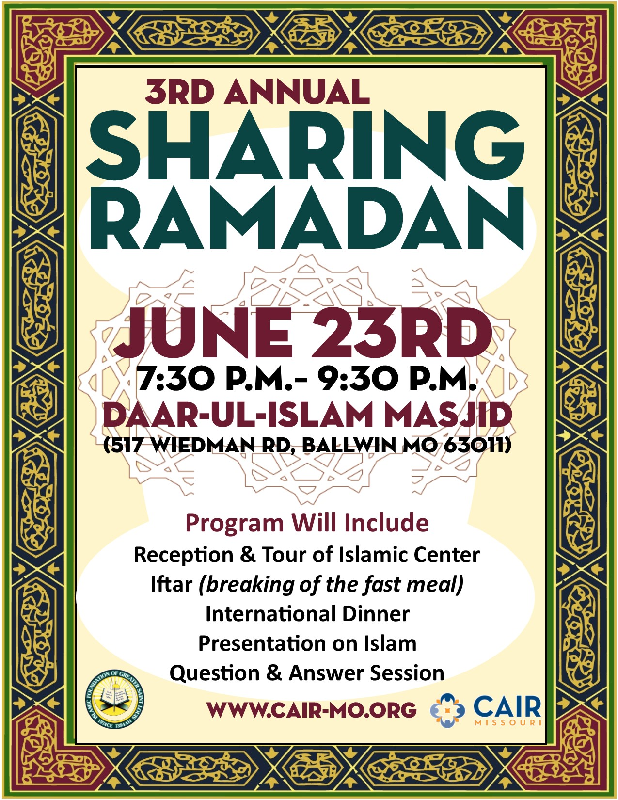 Sharing Ramadan 3rd Annual Flyer