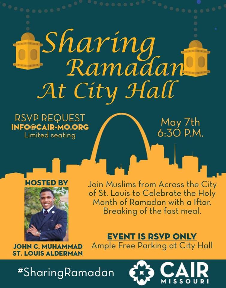 Sharing Ramadan at City Hall St. Louis First Iftar CAIR Missouri