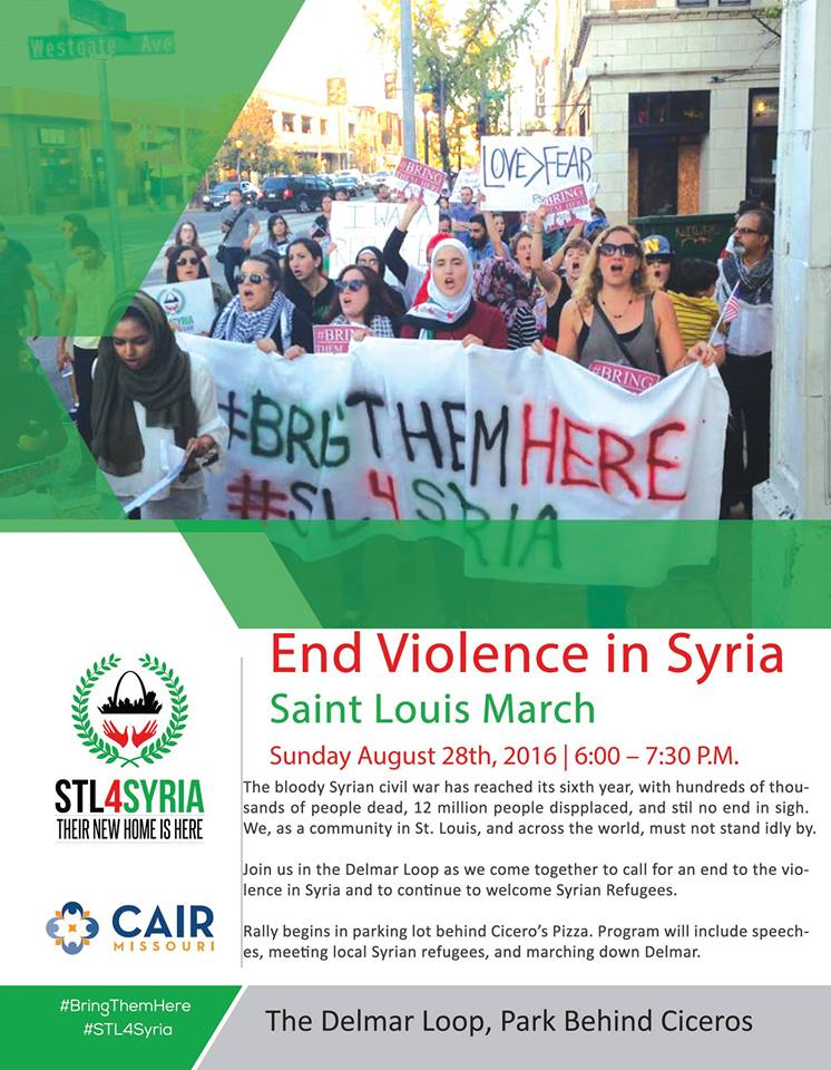 Syria Rally Flyer August