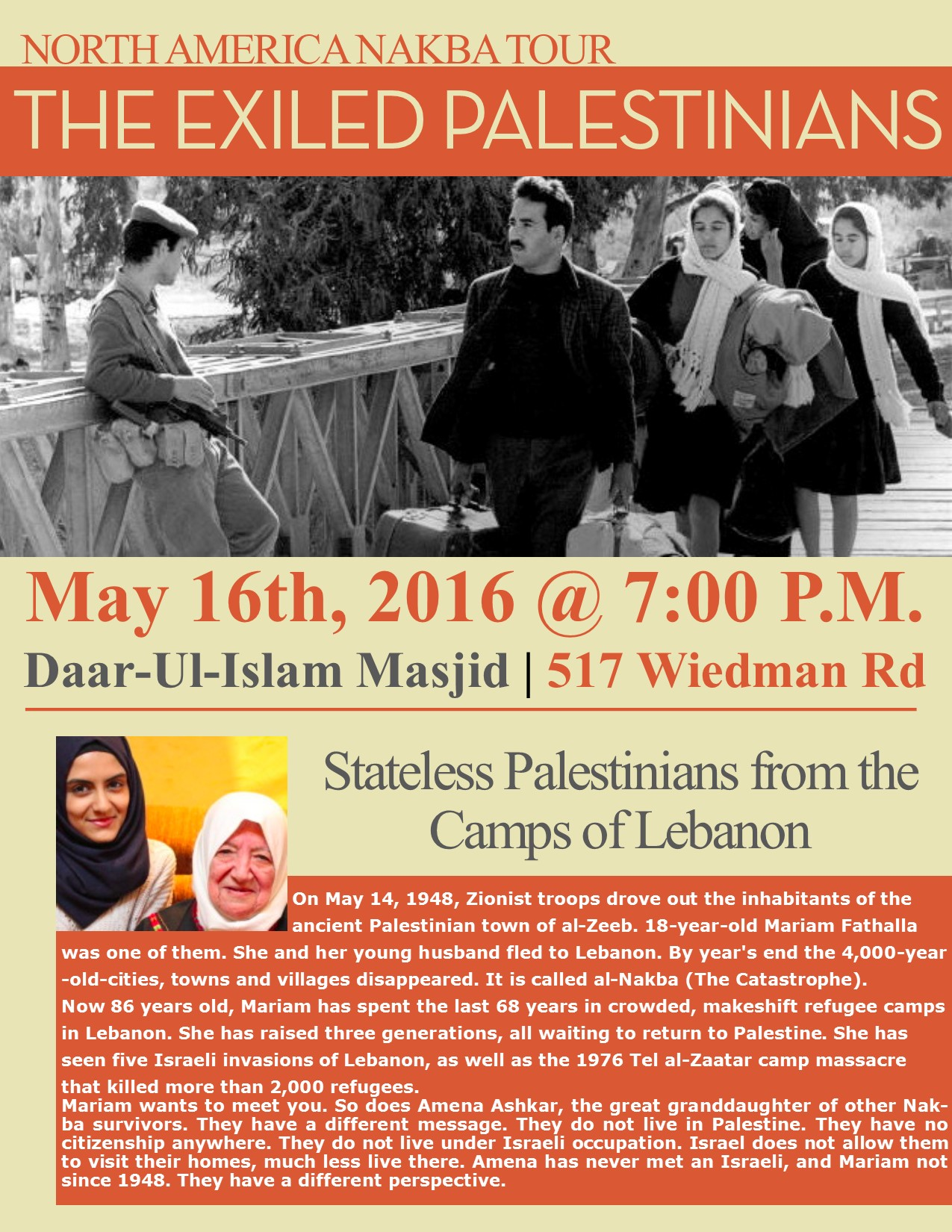 The Exiled Palestinians North America Nakba Tour CAIR MO